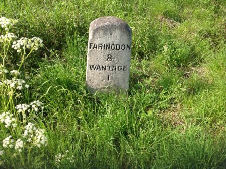 Milestone: Faringdon 8, Wantage 1